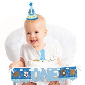 All Star Sports 1st Birthday - First Birthday Boy Smash Cake Decorating Kit - High Chair Decorations