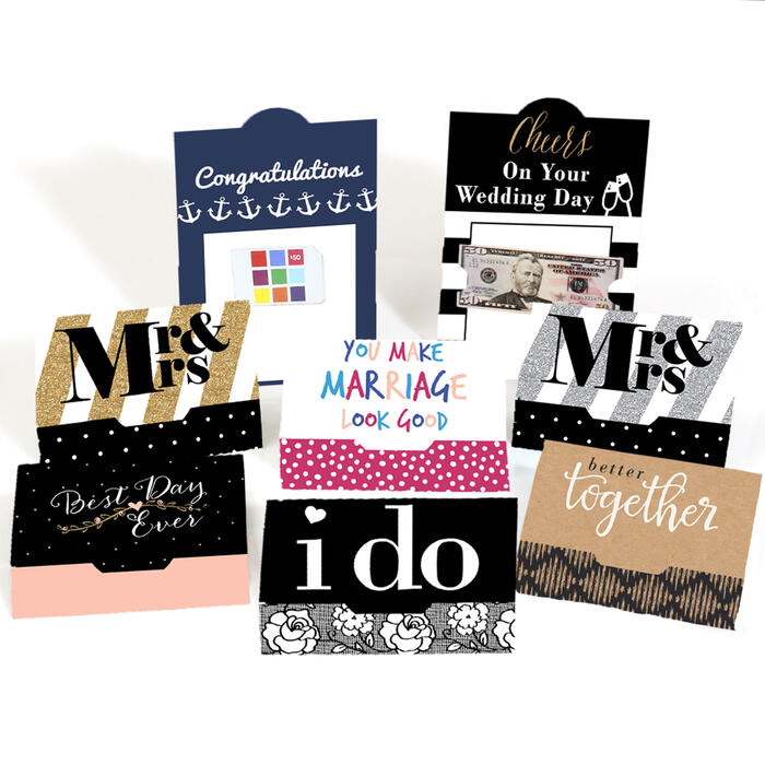 Assorted Wedding Cards - Set of 8 Wedding Money And Gift Card Holders