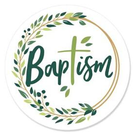 Baptism Elegant Cross - Religious Party Theme