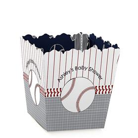 Batter Up - Baseball - Party Mini Favor Boxes - Personalized Baby Shower Treat Candy Boxes - Set of 12