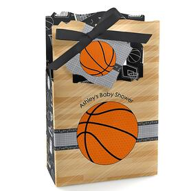 Nothin' But Net - Basketball - Personalized Baby Shower Favor Boxes - Set of 12