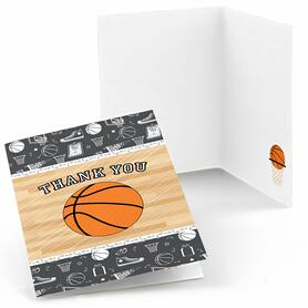 Nothin' But Net - Basketball - Party Thank You Cards - 8 ct