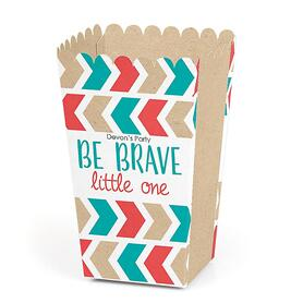 Be Brave Little One - Personalized Baby Shower or Birthday Party Popcorn Favor Treat Boxes - Set of 12