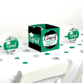 Green Grad - Best is Yet to Come - 2021 Graduation Party Centerpiece & Table Decoration Kit