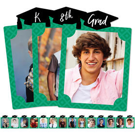 Green Grad - Best is Yet to Come - 8 x 10 inches K-12 School Photo Holder - DIY Graduation Party Decor - Picturific Display