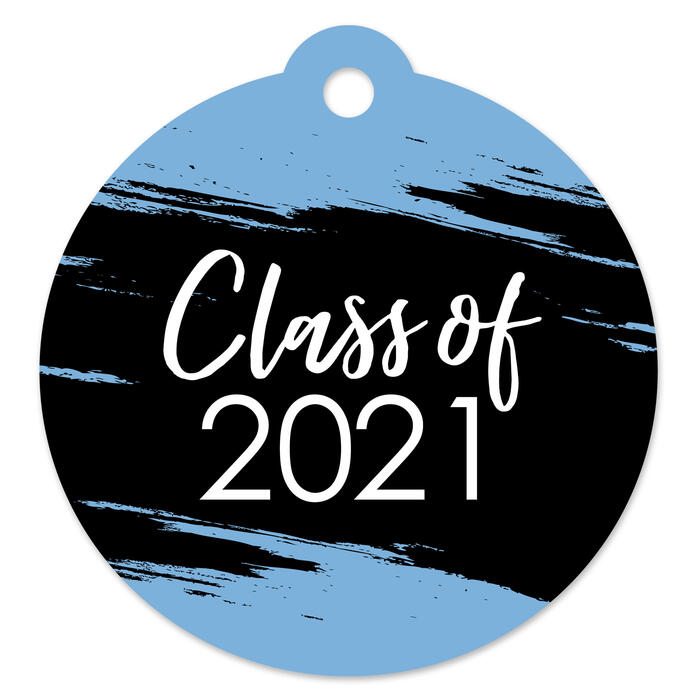 Light Blue Grad - Best is Yet to Come - Light Blue 2021 Graduation Party Favor Gift Tags (Set of 20)