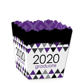 Purple Grad - Best is Yet to Come - Party Mini Favor Boxes - Purple 2020 Graduation Party Treat Candy Boxes - Set of 12