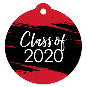 Red Grad - Best is Yet to Come - Red 2020 Graduation Party Favor Gift Tags (Set of 20)