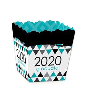 Teal Grad - Best is Yet to Come - Party Mini Favor Boxes - Turquoise 2020 Graduation Party Treat Candy Boxes - Set of 12