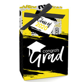 Yellow Grad - Best is Yet to Come - Yellow 2020 Graduation Party Favor Boxes - Set of 12