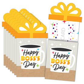 Happy Boss's Day - Best Boss Ever Money and Gift Card Sleeves - Nifty Gifty Card Holders - Set of 8