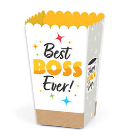 Happy Boss's Day - Best Boss Ever Favor Popcorn Treat Boxes - Set of 12