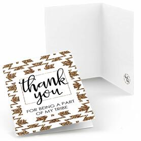 Bride Tribe - Bachelorette Party & Bridal Shower Thank You Cards - 8 ct