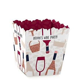 But First, Wine - Party Mini Favor Boxes - Personalized Wine Tasting Party Treat Candy Boxes - Set of 12