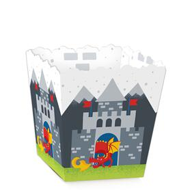 Calling All Knights and Dragons - Party Mini Favor Boxes - Medieval Party or Birthday Party Treat Candy Boxes - Set of 12