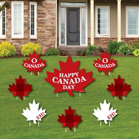 Canada Day - Yard Sign & Outdoor Lawn Decorations - Canadian Party Yard Signs - Set of 8