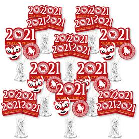 Chinese New Year - 2021 Year of the Ox Centerpiece Sticks - Showstopper Table Toppers - 35 Pieces