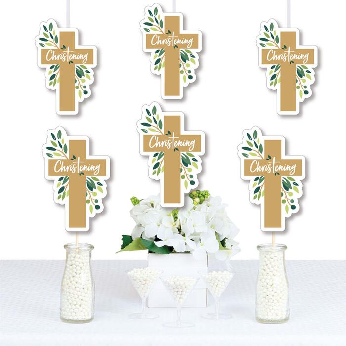 Christening Elegant Cross - Decorations DIY Religious Party Essentials - Set of 20