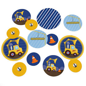 Construction Truck - Baby Shower or Birthday Party Table Confetti - 27 ct