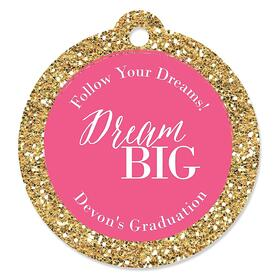 Dream Big - Personalized Graduation Party Die-Cut Tags - 20 ct