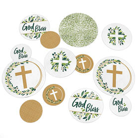 Elegant Cross - Religious Party Table Confetti - 27 ct