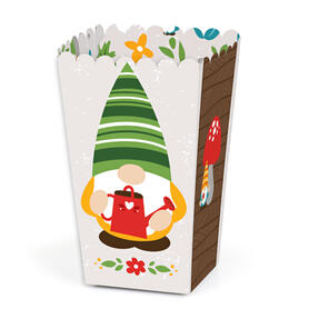 Garden Gnomes - Forest Gnome Party Favor Popcorn Treat Boxes - Set of 12