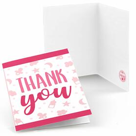 It's a Girl - Pink Baby Shower Thank You Cards - 8 ct