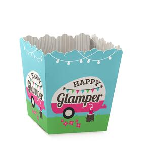 Let's Go Glamping - Party Mini Favor Boxes - Camp Glamp Party or Birthday Party Treat Candy Boxes - Set of 12