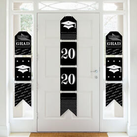 Graduation Cheers - Hanging Vertical Paper Door Banners - 2020 Graduation Party Wall Decoration Kit - Indoor Door Decor