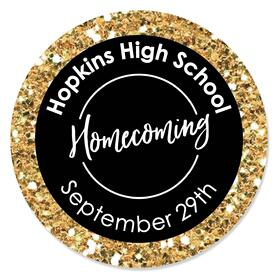 HOCO Dance - Personalized Homecoming Circle Sticker Labels - 24 ct