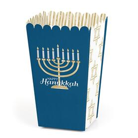 Happy Hanukkah - Chanukah Favor Popcorn Treat Boxes - Set of 12