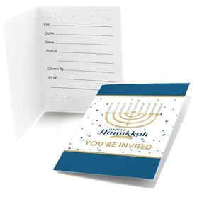 Happy Hanukkah - Fill In Chanukah Party Invitations - 8 ct