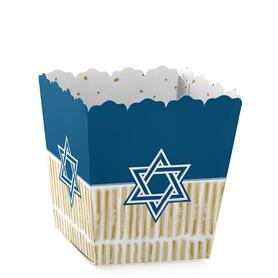 Happy Hanukkah - Party Mini Favor Boxes - Chanukah Treat Candy Boxes - Set of 12