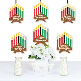 Happy Kwanzaa - Kinara Decorations DIY African Heritage Holiday Essentials - Set of 20