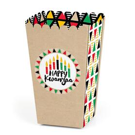 Happy Kwanzaa - African Heritage Holiday Party Favor Popcorn Treat Boxes - Set of 12