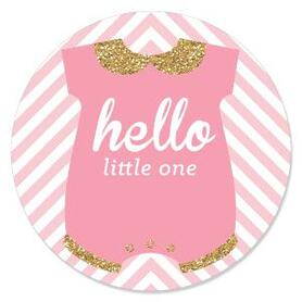Hello Little One - Pink and Gold - Girl Baby Shower Theme