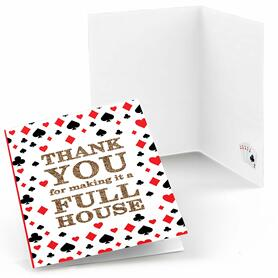 Las Vegas - Set of 8 Casino Party Thank You Cards