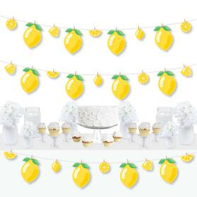 So Fresh - Lemon - Citrus Lemonade Party DIY Decorations - Clothespin Garland Banner - 44 Pieces