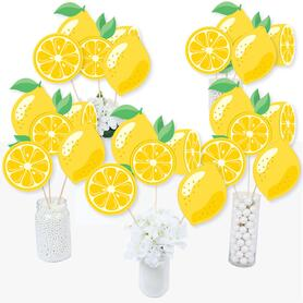 So Fresh - Lemon - Citrus Lemonade Party Centerpiece Sticks - Table Toppers - Set of 15