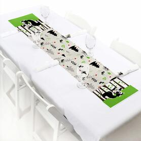 """Little Stinker - Petite Woodland Skunk Baby Shower or Birthday Party Paper Table Runner - 12"""" x 60"""""""