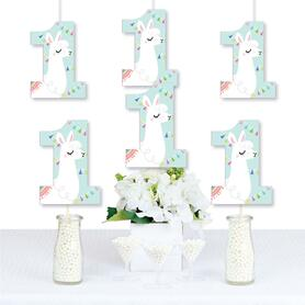 1st Birthday Whole Llama Fun - One Shaped Decorations DIY Llama Fiesta First Birthday Party Essentials - Set of 20