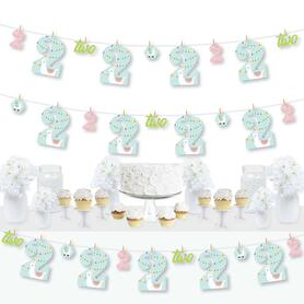 2nd Birthday Whole Llama Fun - Llama Fiesta Second Birthday Party DIY Decorations - Clothespin Garland Banner - 44 Pieces