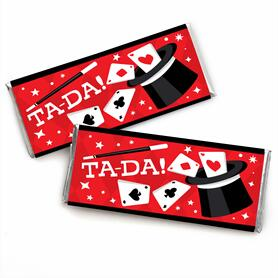Ta-Da, Magic Show -  Candy Bar Wrapper Magical Birthday Party Favors - Set of 24