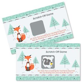 Mr. Foxy Fox - Baby Shower Game Scratch Off Cards - 22 ct