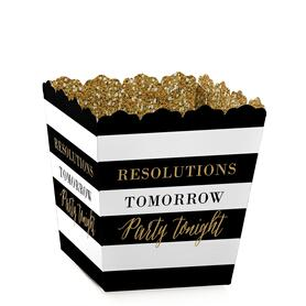 New Year's Eve - Gold - Party Mini Favor Boxes New Years Eve Party Treat Candy Boxes - Set of 12