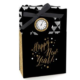 New Year's Eve - Gold - New Years Eve Party Favor Boxes - Set of 12
