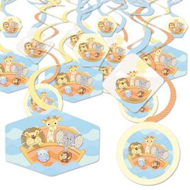 Noah's Ark - Baby Shower Hanging Decor - Party Decoration Swirls - Set of 40