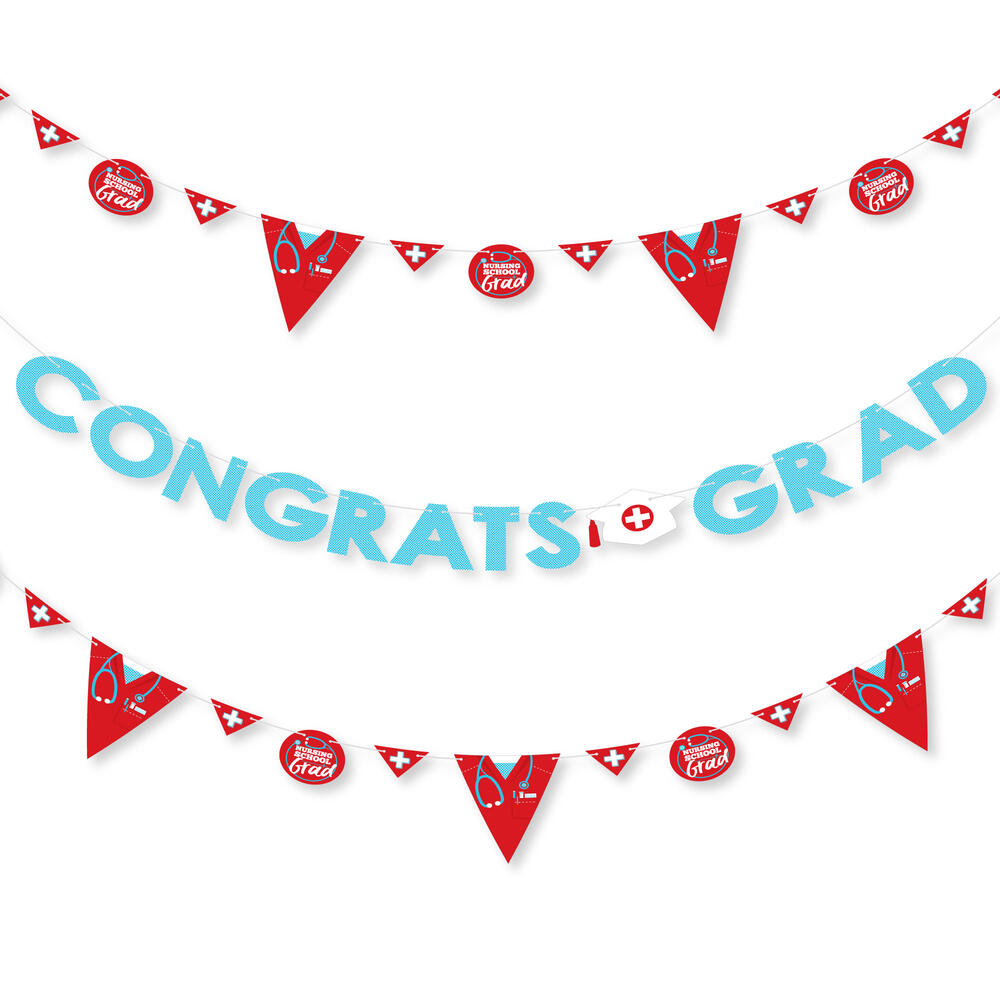 Nurse Graduation Medical Nursing Graduation Party Letter Banner Decoration 36 Banner Cutouts And Congrats Grad Banner Letters Bigdotofhappiness Com