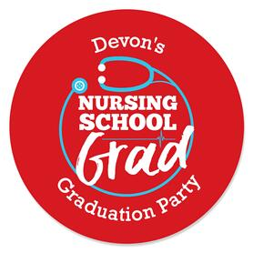 Nurse Graduation - Personalized Medical Nursing Graduation Sticker Labels - 24 ct