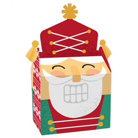 Christmas Nutcracker - Treat Box Party Favors - Holiday Party Goodie Gable Boxes - Set of 12